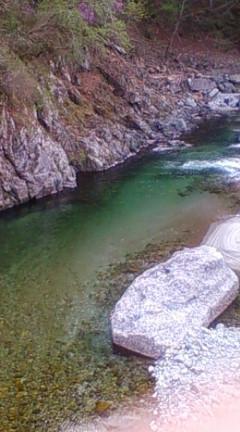 カワランベーがいたかもしれない淵(和合小学校脇の和合川)2009年4月12日のりくん撮影