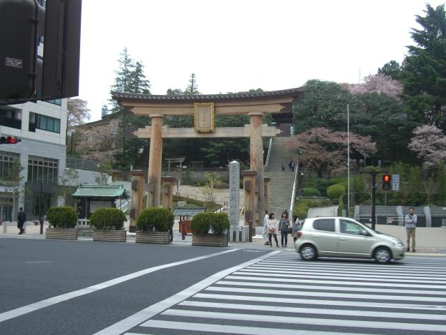 二荒山神社正面付近(2012年4月22日、まるこ撮影)