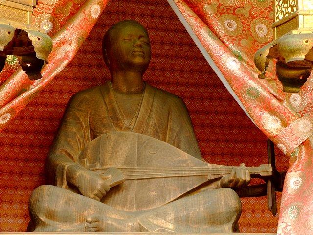 堂内の耳なし芳一像(芳一堂の中にある)araya、2012年2月29日撮影