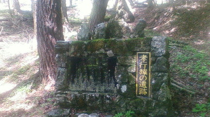 孝行猿の墓(2012年8月3日のりくん撮影)