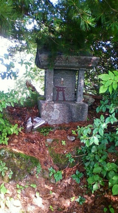戸倉山山頂の祠(2009年9月5日のりくん撮影)