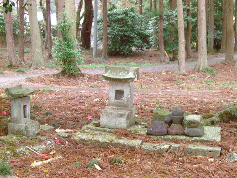 七駄田の龍の夫婦を祀った青龍神社(右)2013年3月31日マルコ氏撮影