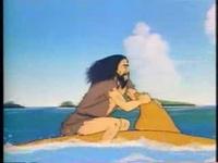 無人島に流された男