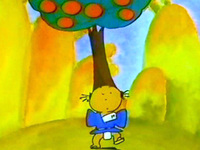 頭にカキの木