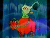 赤牛に乗った仙人